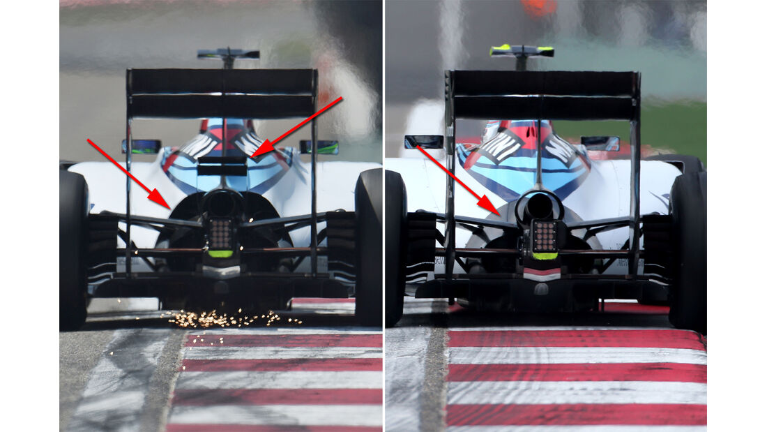 Williams - Technik - GP China / GP Bahrain - Formel 1 - 2015