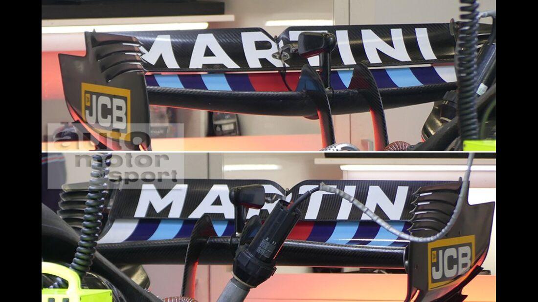 Williams - Technik - Upgrades - GP Belgien / GP Italien 2018