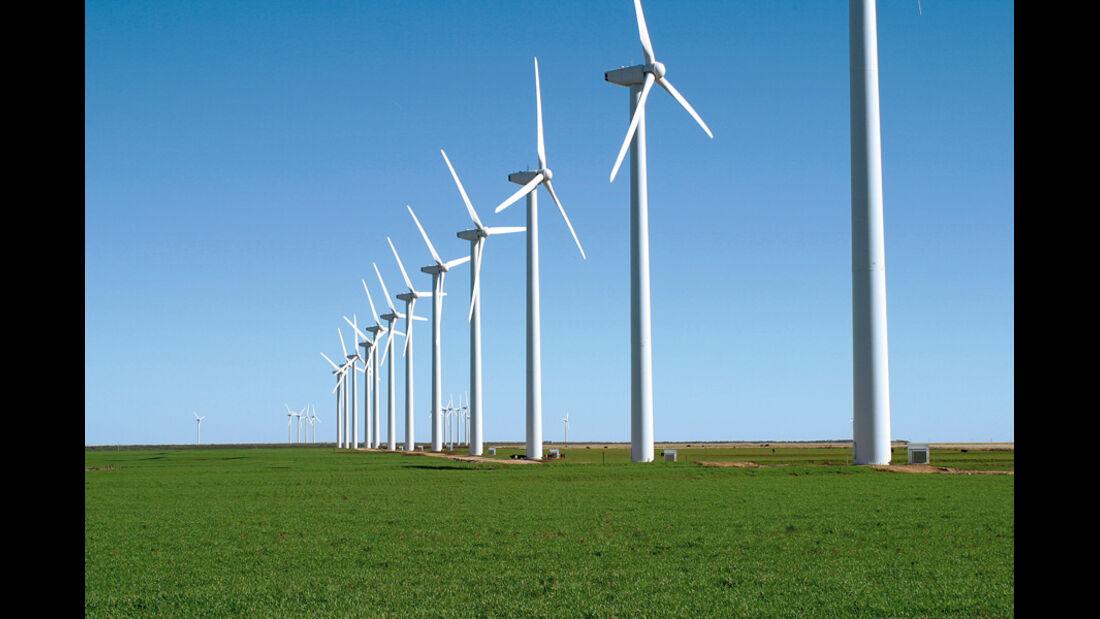 Windräder, Landschaft