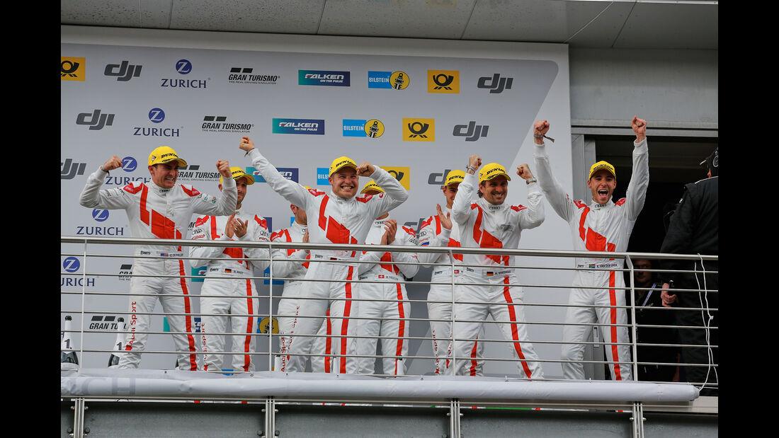 Winkelhock - Mies - van der Linde - De Phillippi - 24h-Rennen Nürburgring 2017 - Nordschleife - Sonntag - 28.5.2017