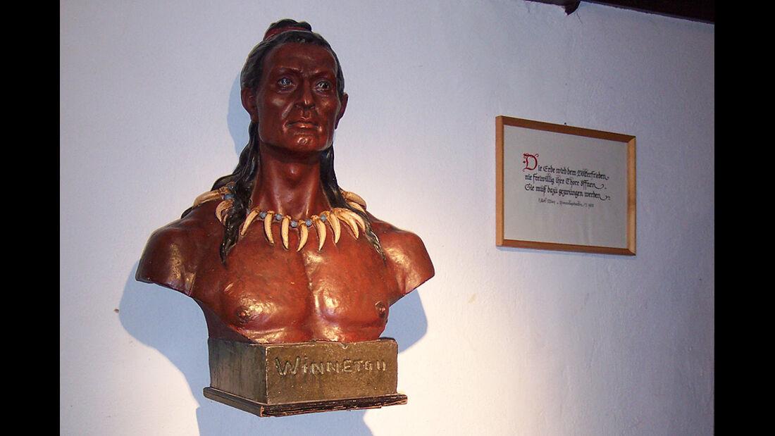 Winnetou-Büste im Karl-May-Museum
