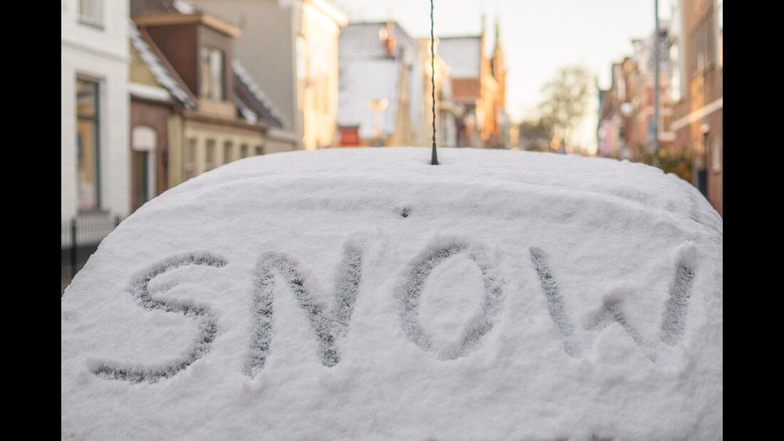 Winter, Schnee, Auto