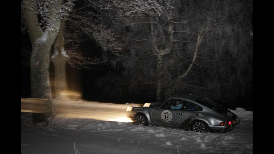 Winter Trail, Porsche 911, Nachtfahrt