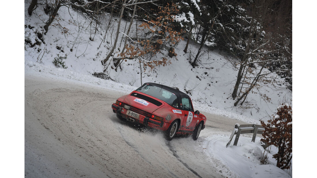 Winter Trail, Porsche 911 Targa, Heckansicht