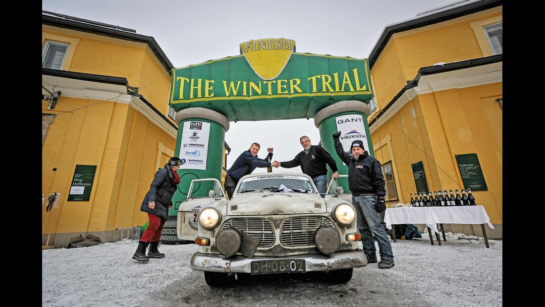 Winter Trail, Volvo Amazon 122S, Zeilankunft