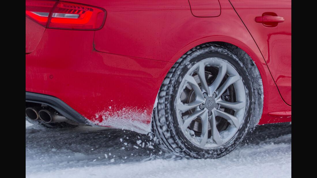 Winterreifentest 2014, Reifentest, Winterreifen, Audi S4, Größe 225/45 R 18 V, Pneus, Gummis, sport auto, auto motor und sport