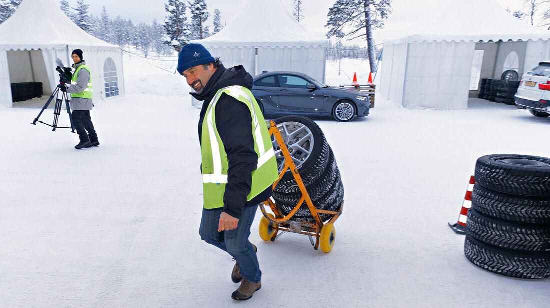 Winterreifentest 2018, Fahrversuche