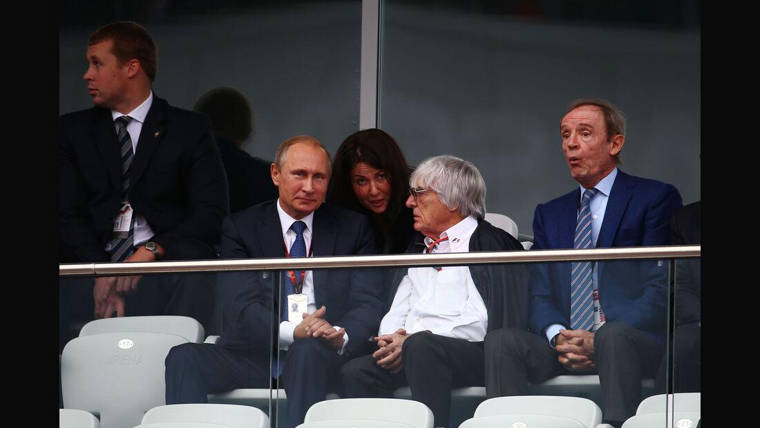Wladimir Putin - Bernie Ecclestone - GP Russland 2015 - Sochi - Rennen