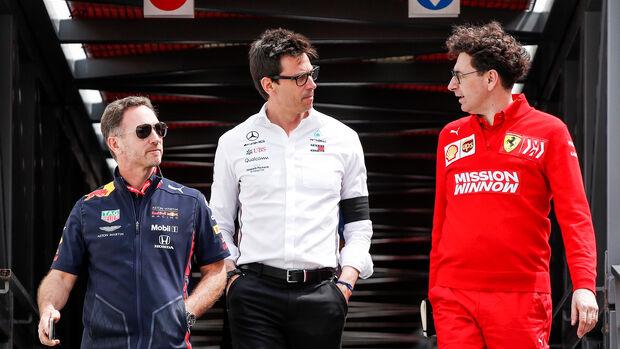 Wolff, Binotto & Horner - GP Monaco 2019