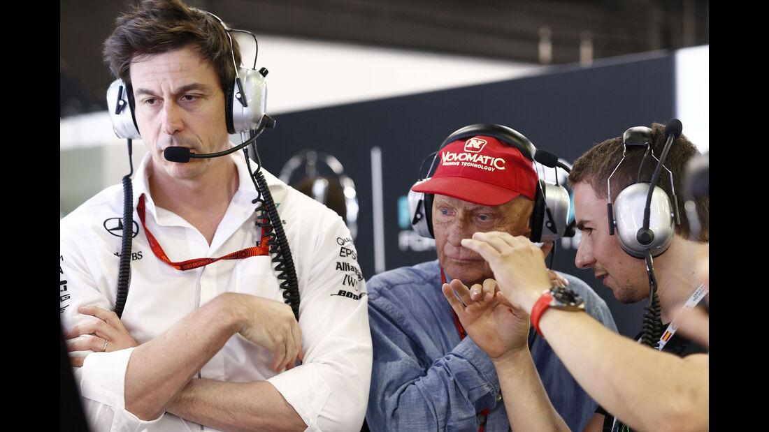 Wolff - Lauda - GP Abu Dhabi 2016 - Formel 1