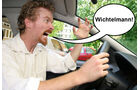 Wütende Autofahrer