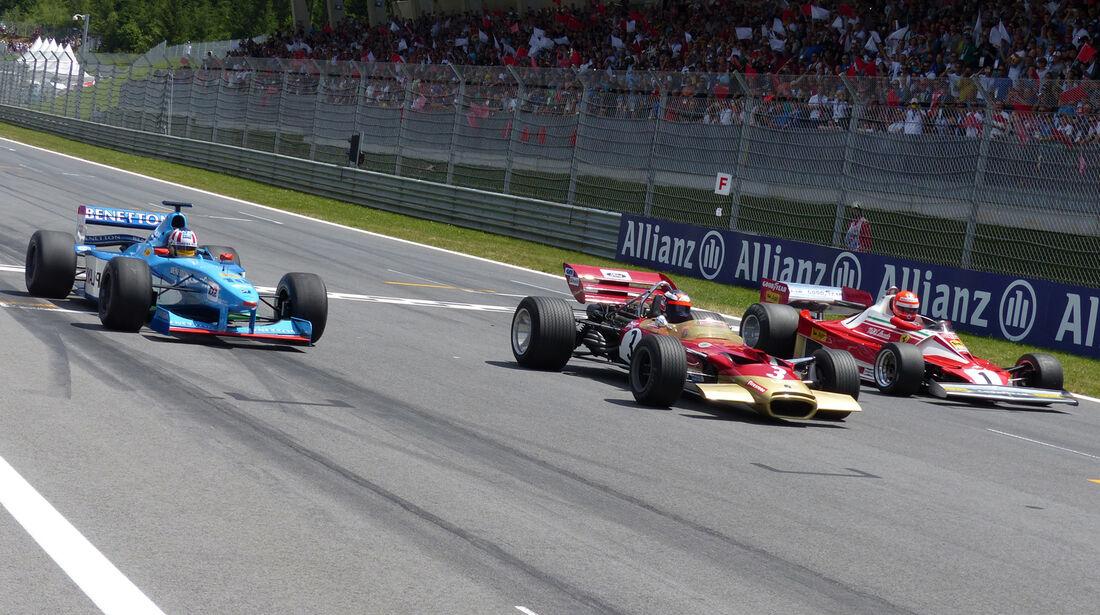 Wurz, Berger & Lauda - GP Österreich 2014 - Legenden
