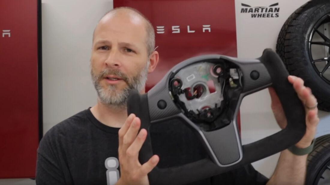Yoke-Lenkrad für Tesla Model 3 und Model Y vom chinesischen Hersteller Hansshow