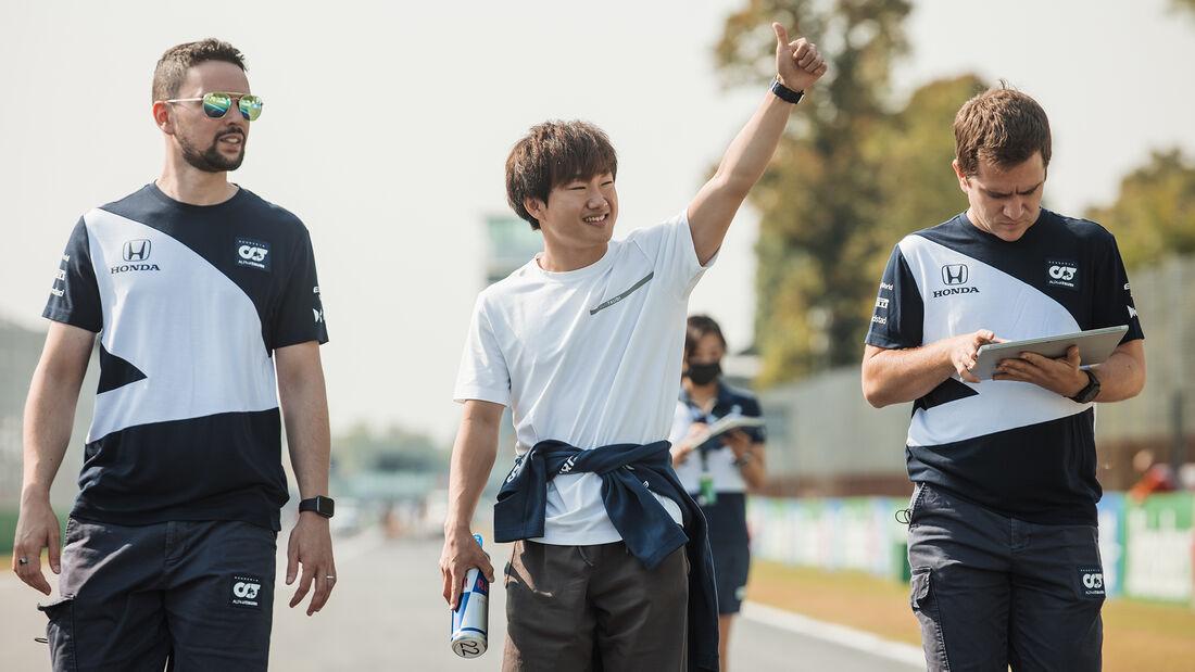 Yuki Tsunoda - Alpha Tauri - Formel 1 - GP Italien - Monza - 9. September  2021