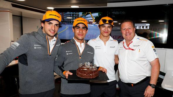 Zak Brown, Carlos Sainz, Sergio Sette Camara & Lando Norris - McLaren - F1 - 2019