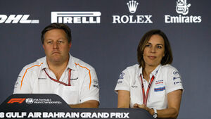 Zak Brown - Claire Williams - Formel 1