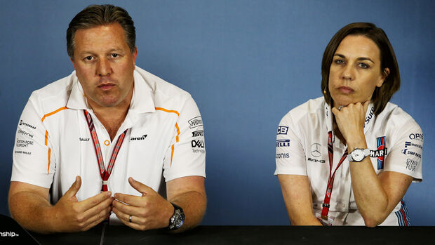 Zak Brown & Claire Williams - GP England 2018