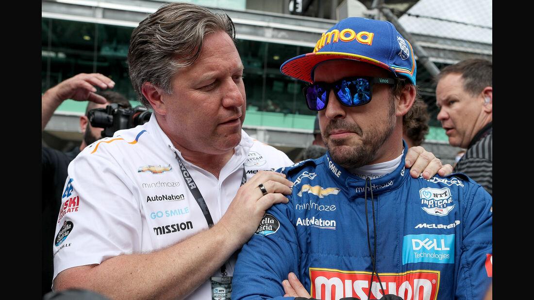 Zak Brown & Fernando Alonso - McLaren - IndyCar - 2019
