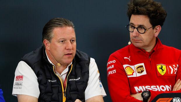 Zak Brown - McLaren - Mattia Binotto - Ferrari - Formel 1