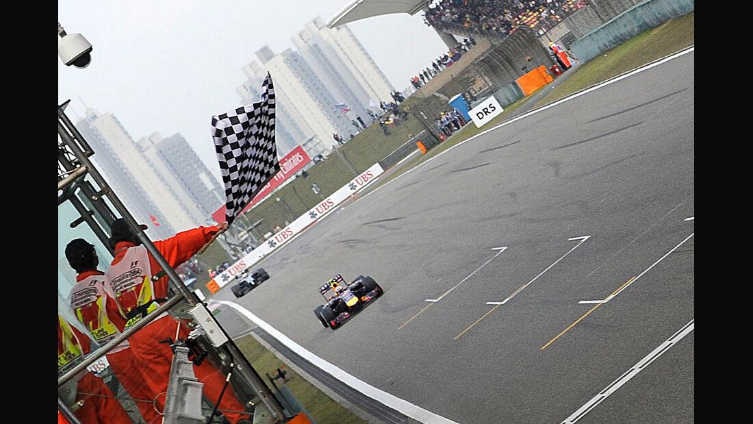 Zielflagge - GP China 2014