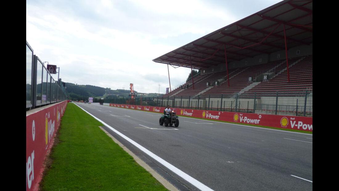 Zielgerade - GP Belgien - 25. August 2012