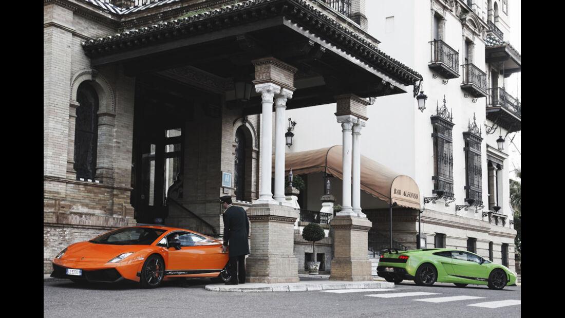 Zwei Lamborghini Gallardo LP 570-4 Superleggera