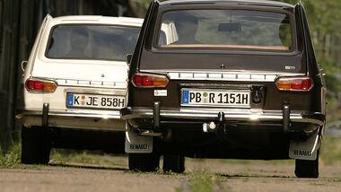 Zwei Renault 16 - Heckansicht