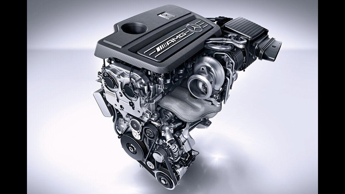 Zweiliter-Triebwerk des Mercedes-AMG A 45