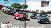 ams 08/2014, Test Audi Q3, BMW X1, Mercedes GLA, Mini Countryman