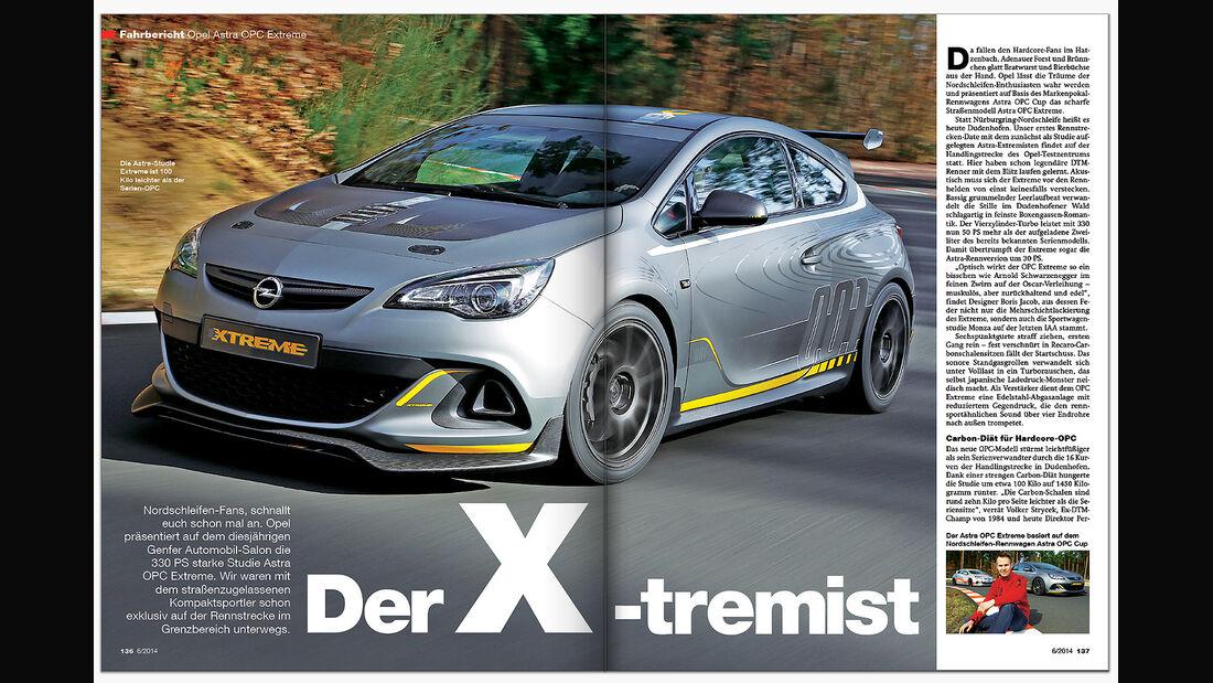 ams Heft 6 Fahrbericht Opel Extreme