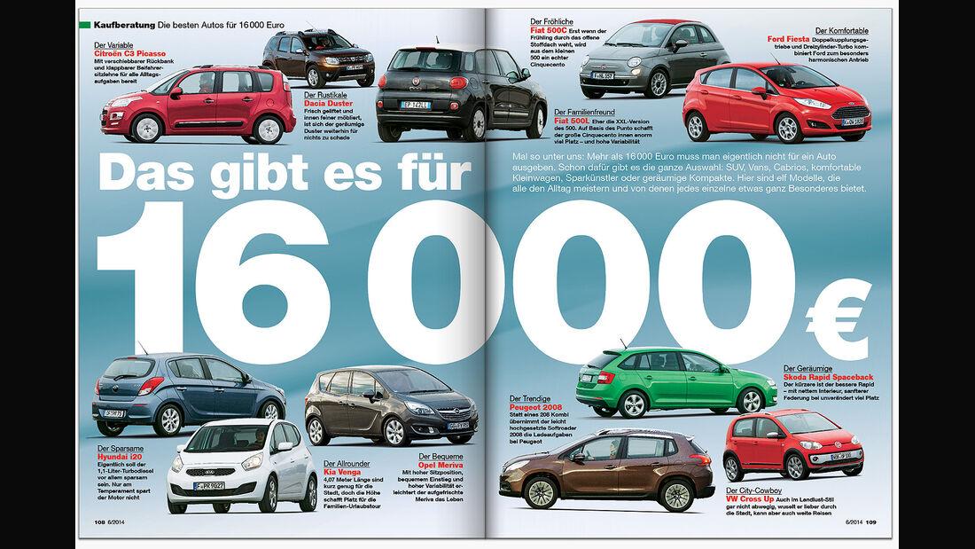ams Heft 6 Kaufberatung Autos bis 16.000 Euro