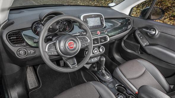 ams0319, Vergleichstest, Fiat 500X 1.3 GSE, Interieur