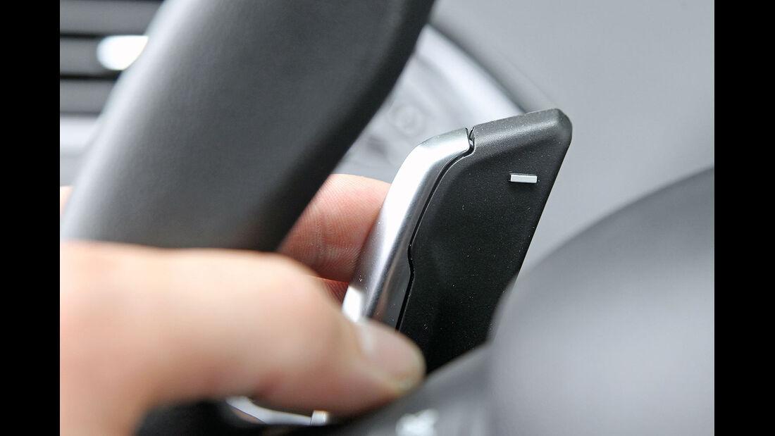 ams15/2012, Kleinwagen, 100 g/km CO2, Peugeot 208, Schaltpaddel