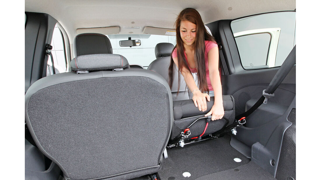 ams15/2012, Kleinwagen, 100 g/km CO2, Renault Twingo, Rückbank
