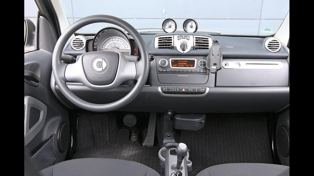ams15/2012, Kleinwagen, 100 g/km CO2, Smart Fortwo, Cockpit