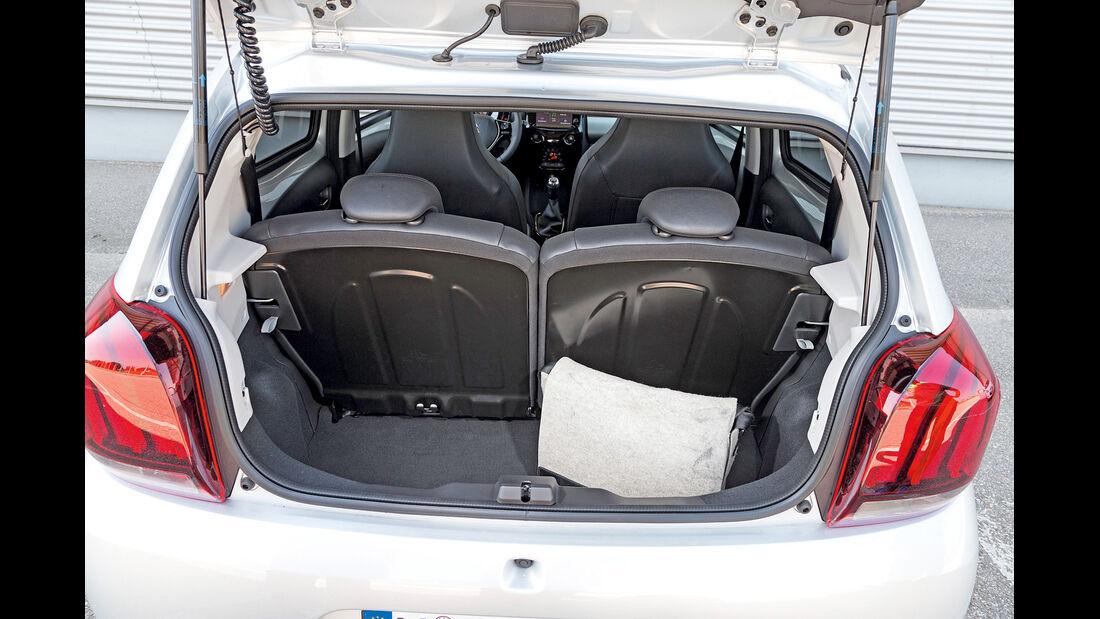asv 1814, Peugeot 108 Puretech 82, Kofferraum