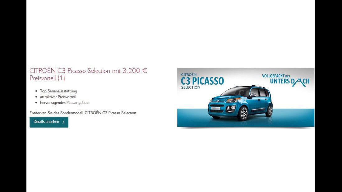 asv 1814, Rabatte der Hersteller, Citroën C3 Picasso Selection