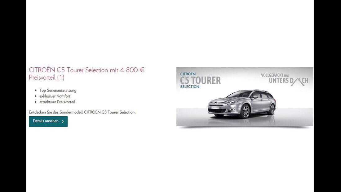 asv 1814, Rabatte der Hersteller, Citroën C5 Tourer Selection