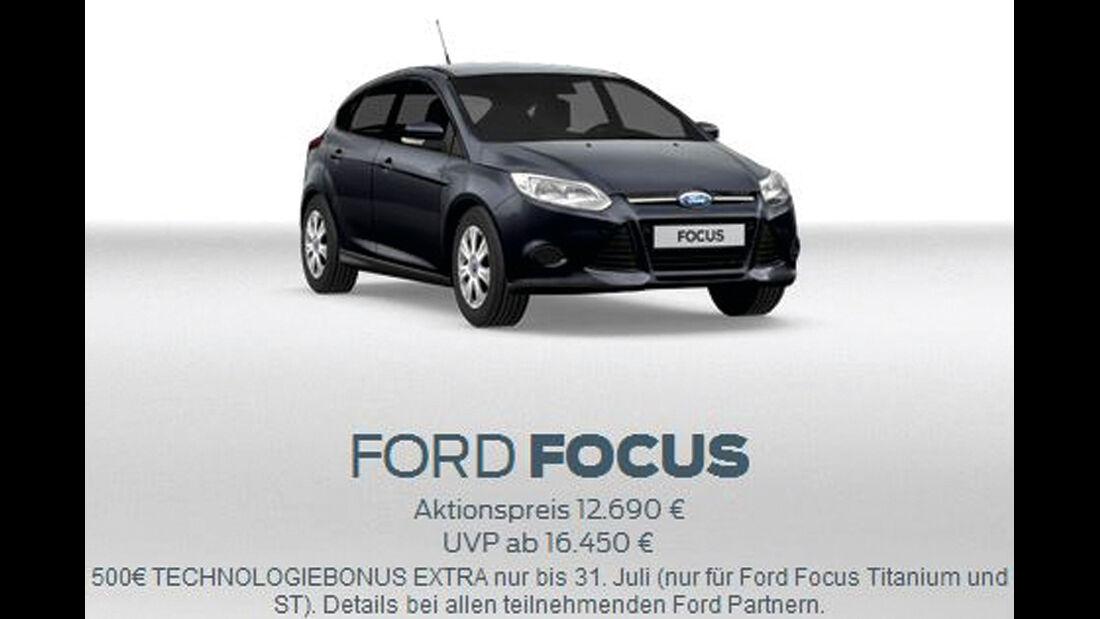 asv 1814, Rabatte der Hersteller, Ford Focus Aktion
