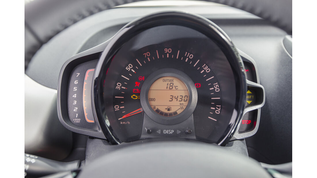 asv 2014, Toyota Aygo, Fahrbericht, Cockpit
