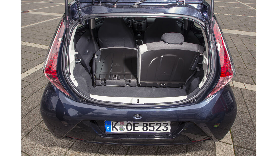 asv 2014, Toyota Aygo, Fahrbericht, Kofferraum