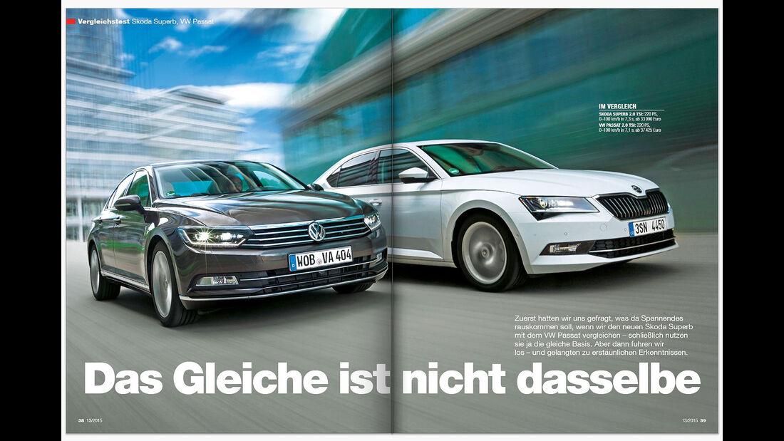 auto motor und sport 13/2015 Heftvorschau Doppelseiten