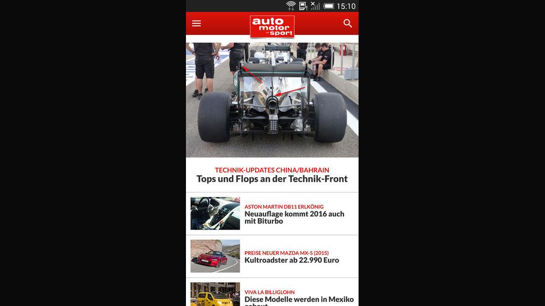 auto motor und sport App Android 04/2015