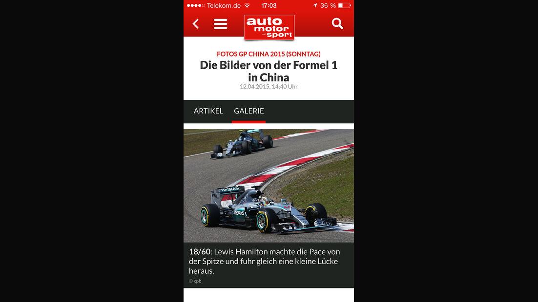 auto motor und sport App Android iOS iPhone 04/2015