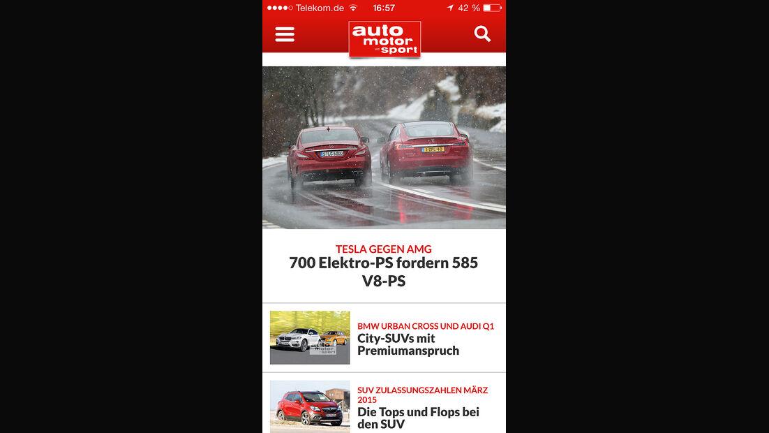 auto motor und sport App iPhone iOS