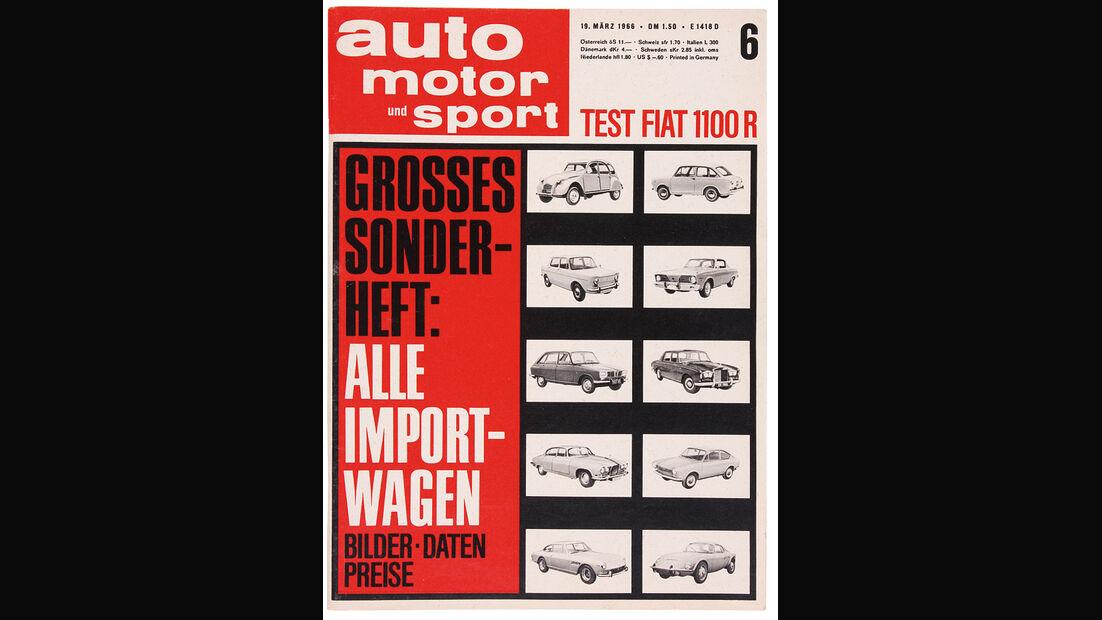 auto motor und sport Ausgabe 06/1966, Fiat 1100 R