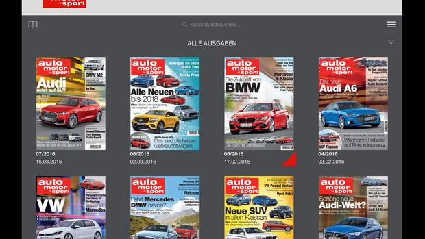 auto motor und sport Digital, App für Android und iOS, 04/2016
