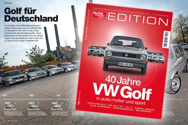 auto motor und sport EDITION 40 Jahre VW Golf