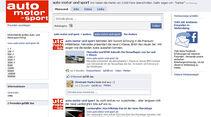 auto motor und sport Facebook-Fan-Seite 2010
