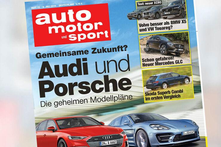 auto motor und sport, Heft 15 / 2015, Titel, Vorschau